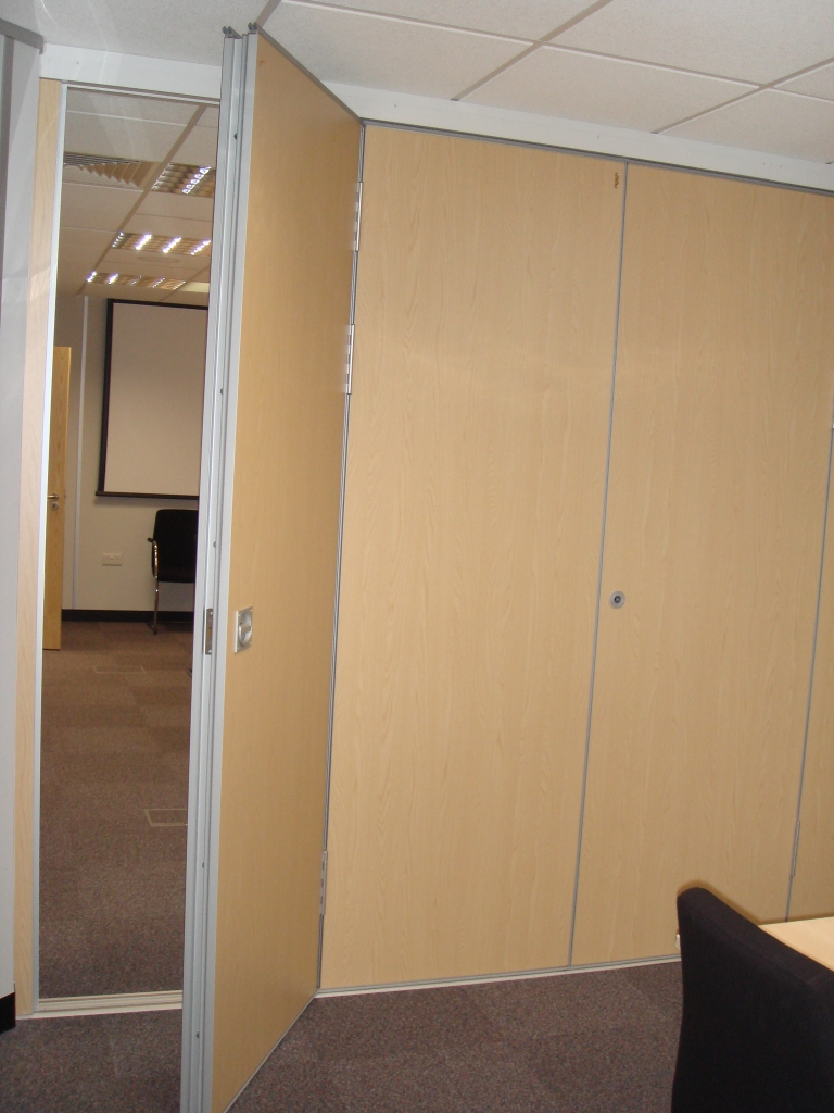Door partition kin long hardware sliding folding Office partition walls with doors