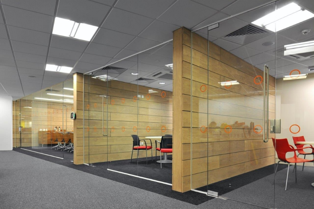 glass office partitions glazed walls supplier office refurbishment