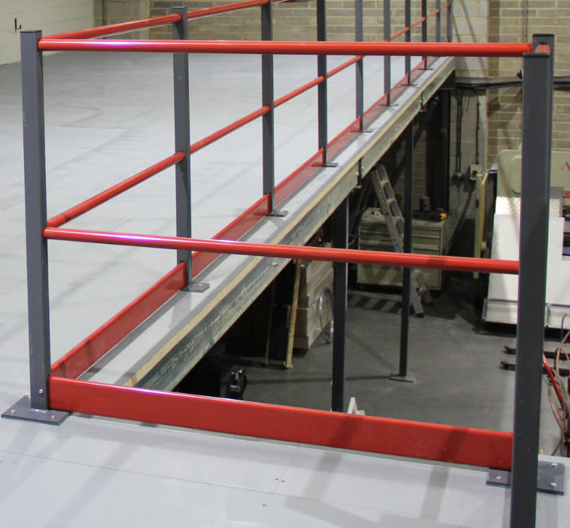 Mezzanine Railing and Kickplates