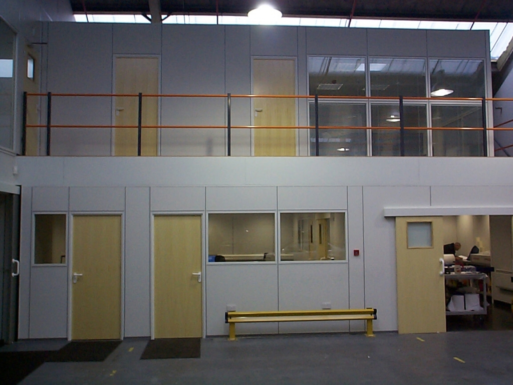 Office Mezzanine and walk way installed by Cubex Contracts Northants