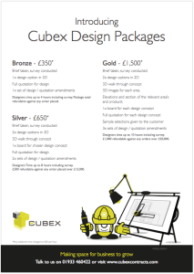 design package prices from Cubex Contracts