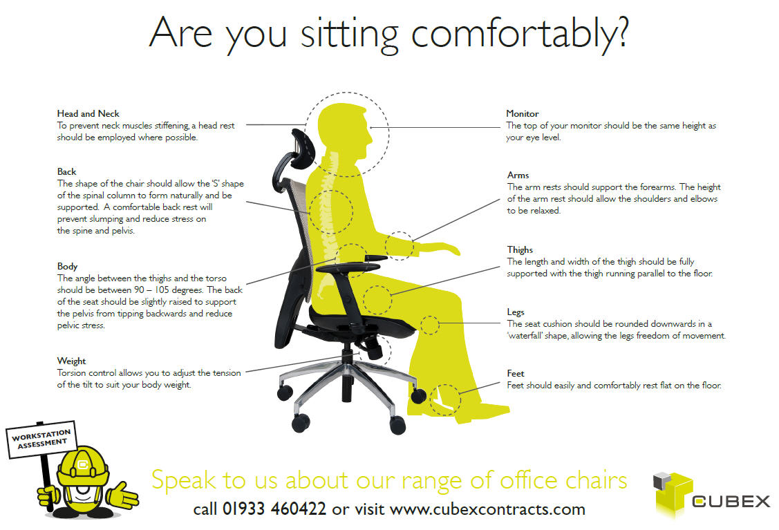 Office Chair Adjustment Guide click to download pdf.