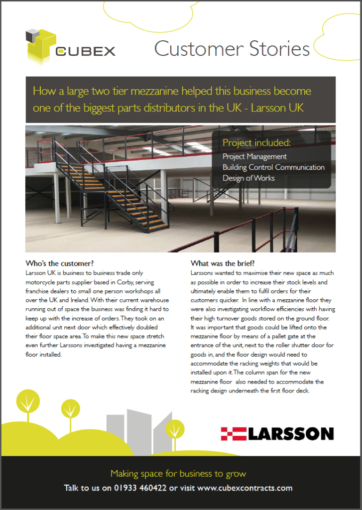 How a large two tier mezzanine helped this business become one of largest parts distributors in the uk - Larsson UK