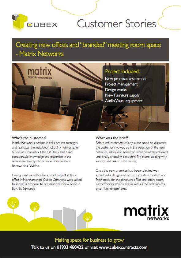 Matrix Networks Office Refurbishment and Interior DesignCase Study