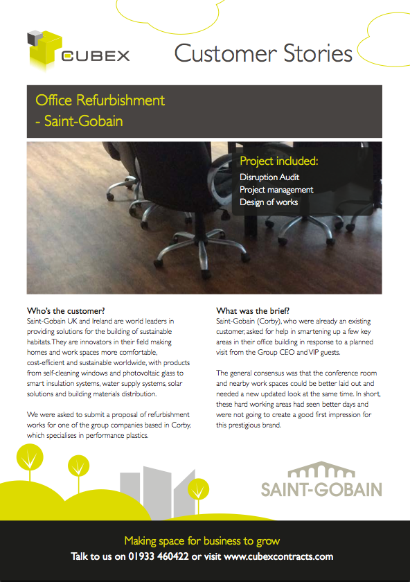 Saint-Gobain Office Refurbishment Case Study
