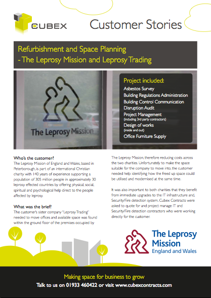 The Leprosy Mission Office Refurbishment and Space Planning Case Study