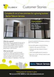 Barton Telecom Services - customer story