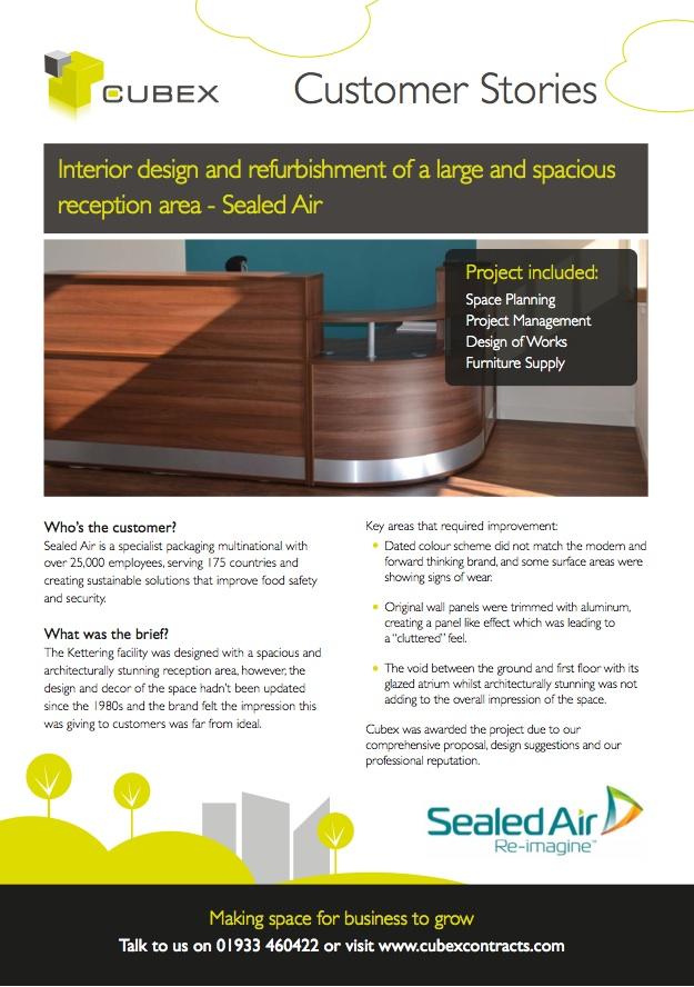 Sealed Air Interior Design and Refurbishment case study