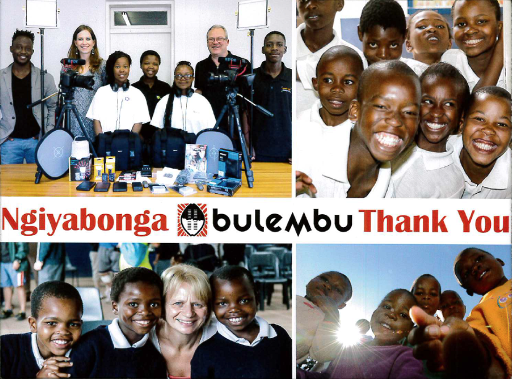 cubex donates money to cameras 4 kids - thank you photo