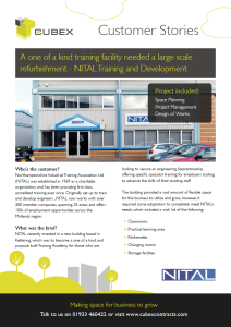 NITAL refurbishment for a unique training facility case study