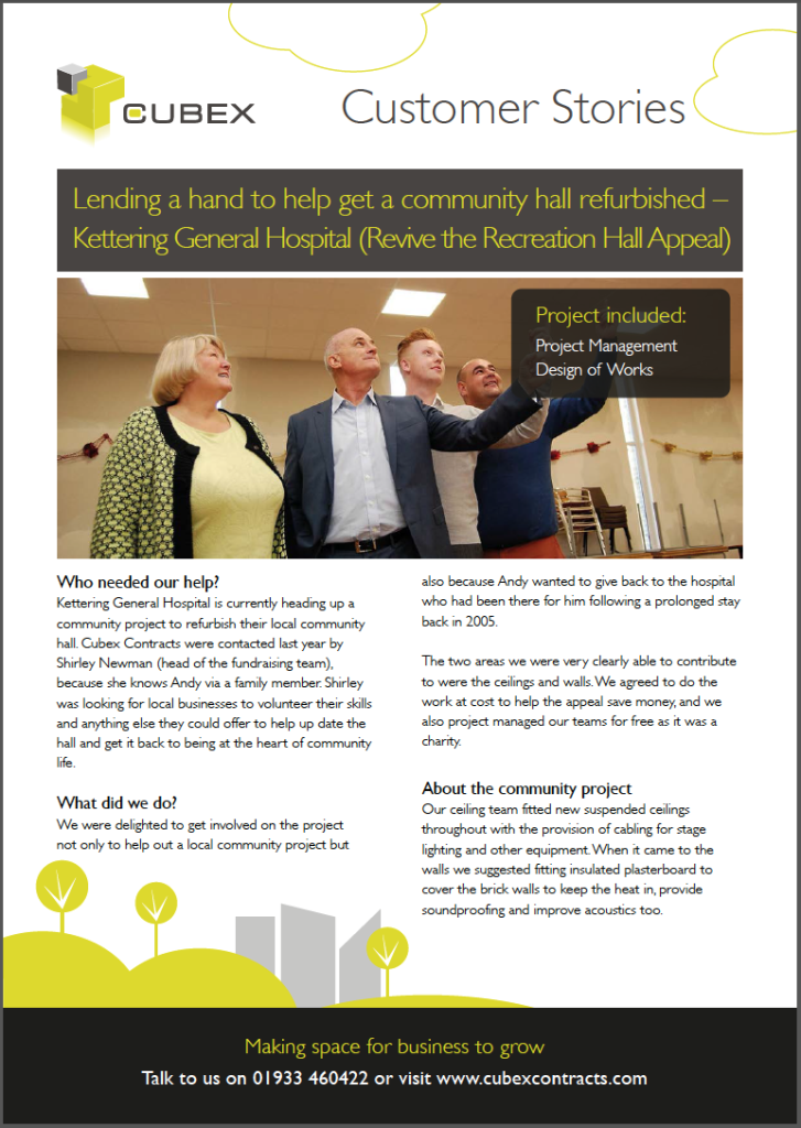 Lending a helping hand to get a community hall refurbished - a customer story