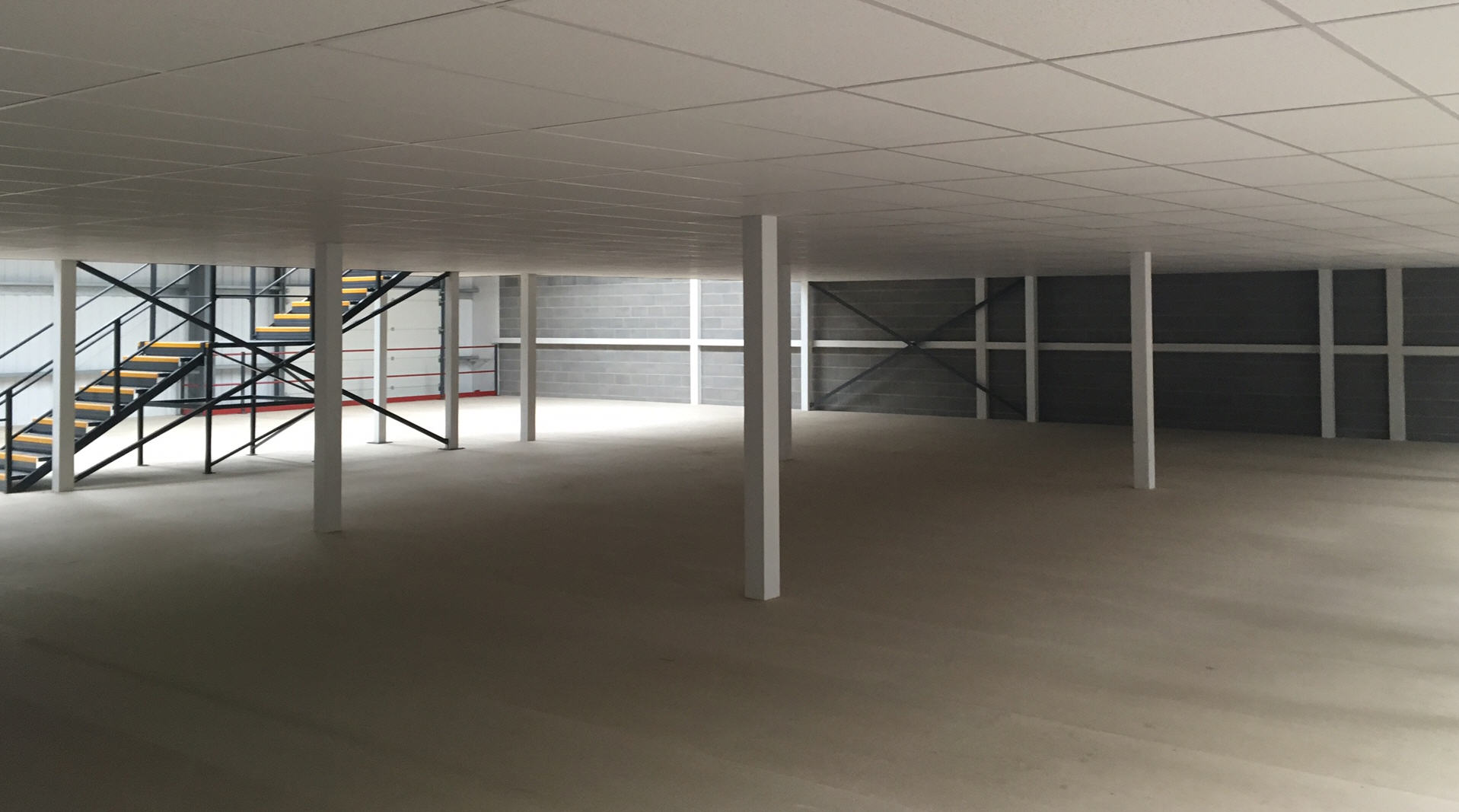 Two Tier Storage Mezzanine and Stairs By Cubex Contracts