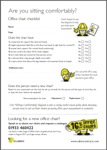 office chair checklist pdf