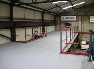 Factory After Storage Mezzanine Floor Installation