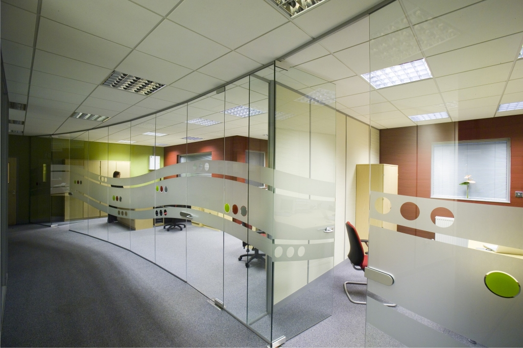 Glass office design with manifestation