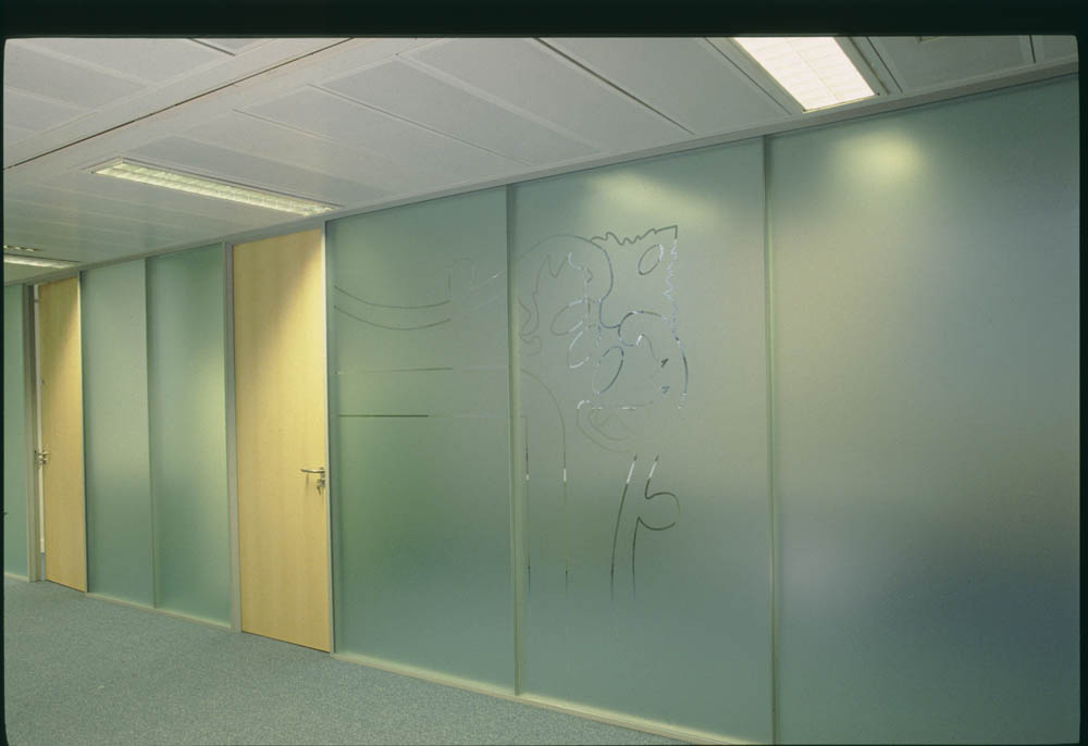 Opaque Glass Office Partition 2
