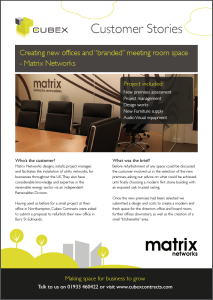 download our customer story on office refurbishment, space planning and refurbishment
