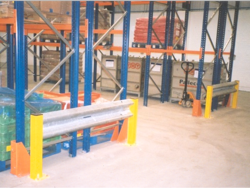 Crash Barrier For Industrial Racking