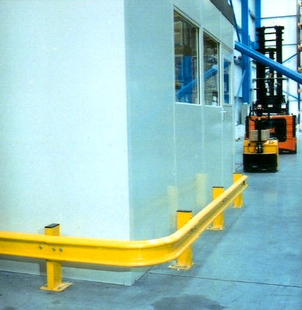 Curved Warehouse Crash Barrier