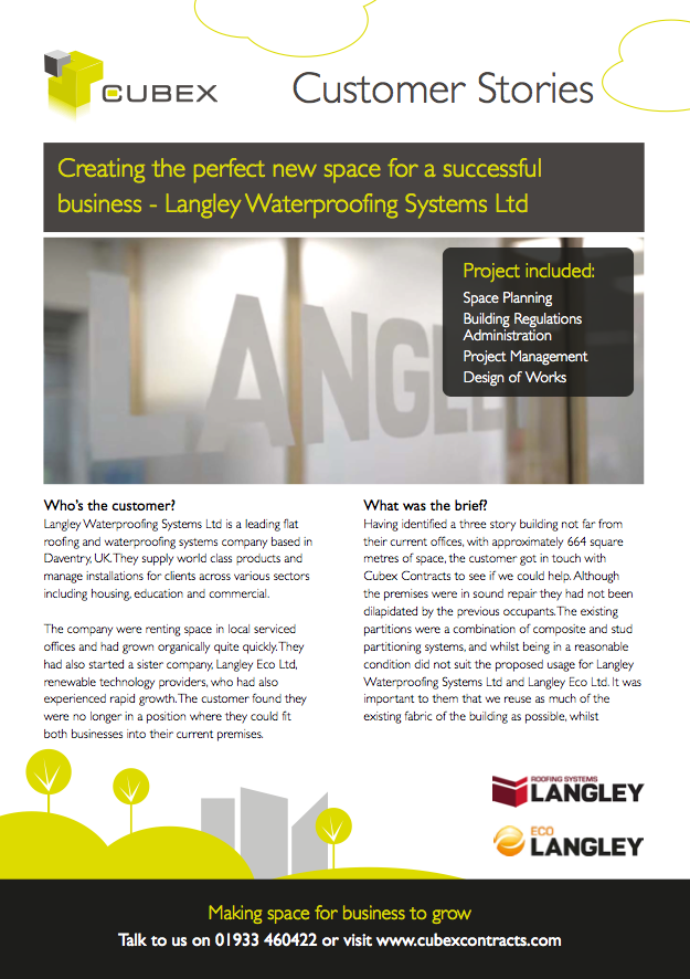 Langley Waterproofing Systems Refurbishment and Interior Design Case Study