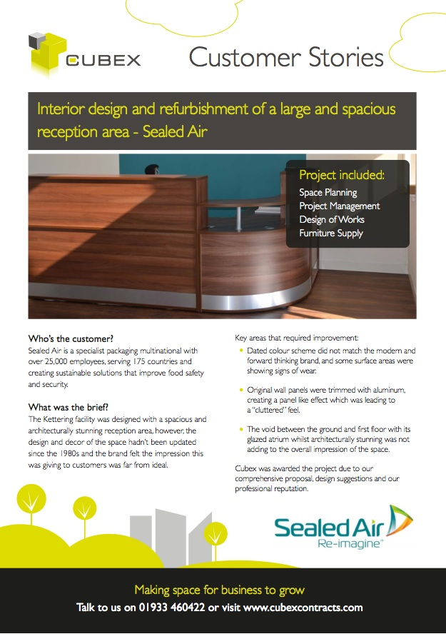 Sealed Air Interior Design and Refurbishment case study