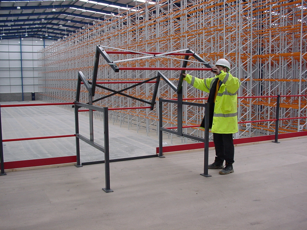 Mezzanine floor with Pallet Up and Over Gate