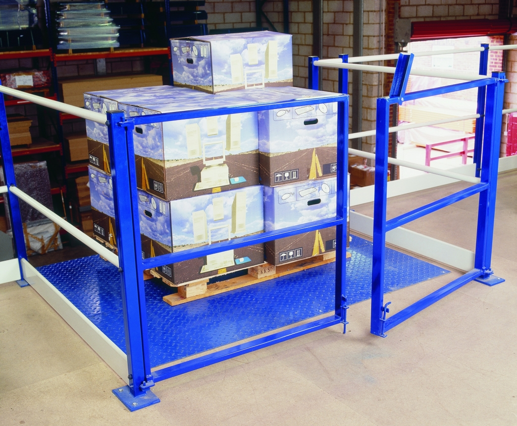Swing gate in operation on a mezzanine floor