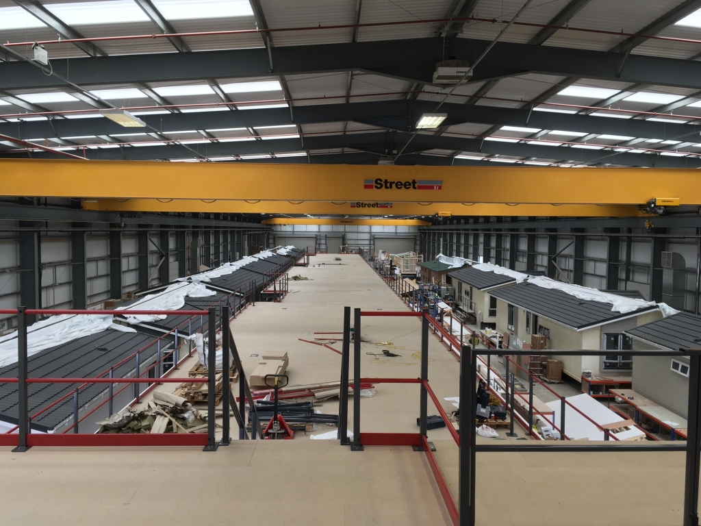 View of the industrial Mezzanine installed by Cubex Contracts Northants for Prestige Homes
