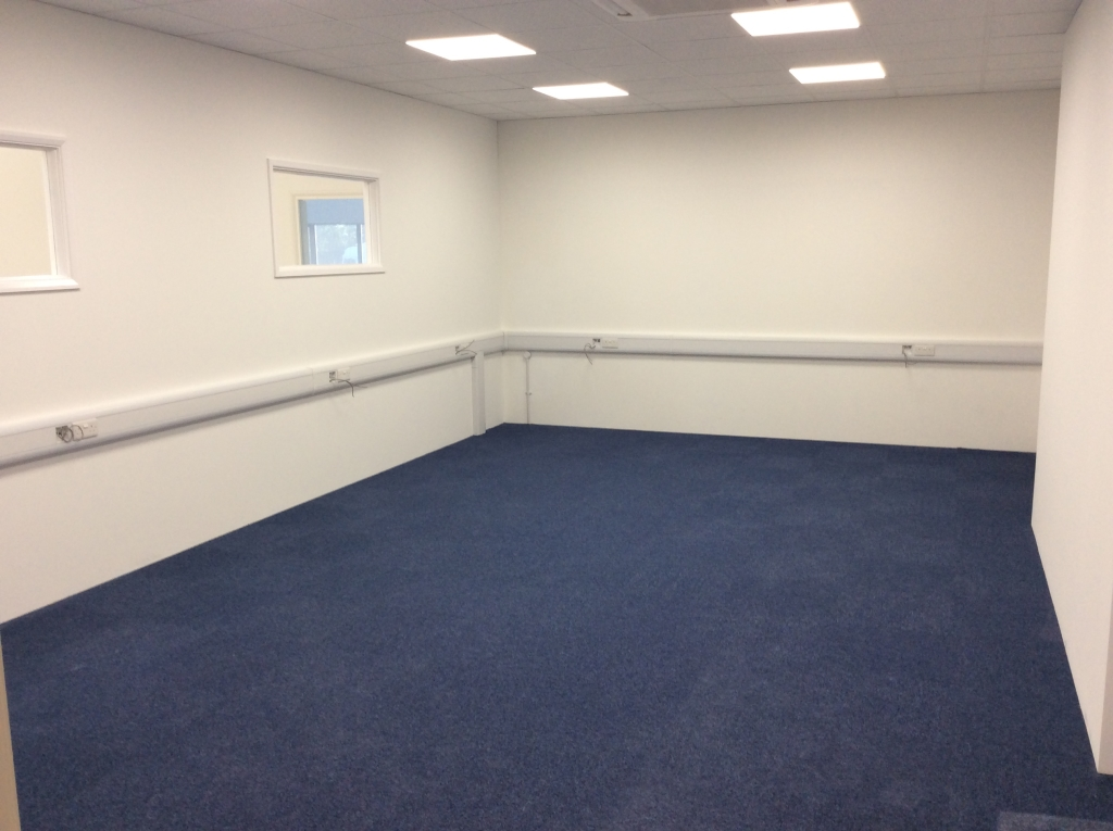 Office on top of Mezzanine Floor installed by Cubex Contracts Northants