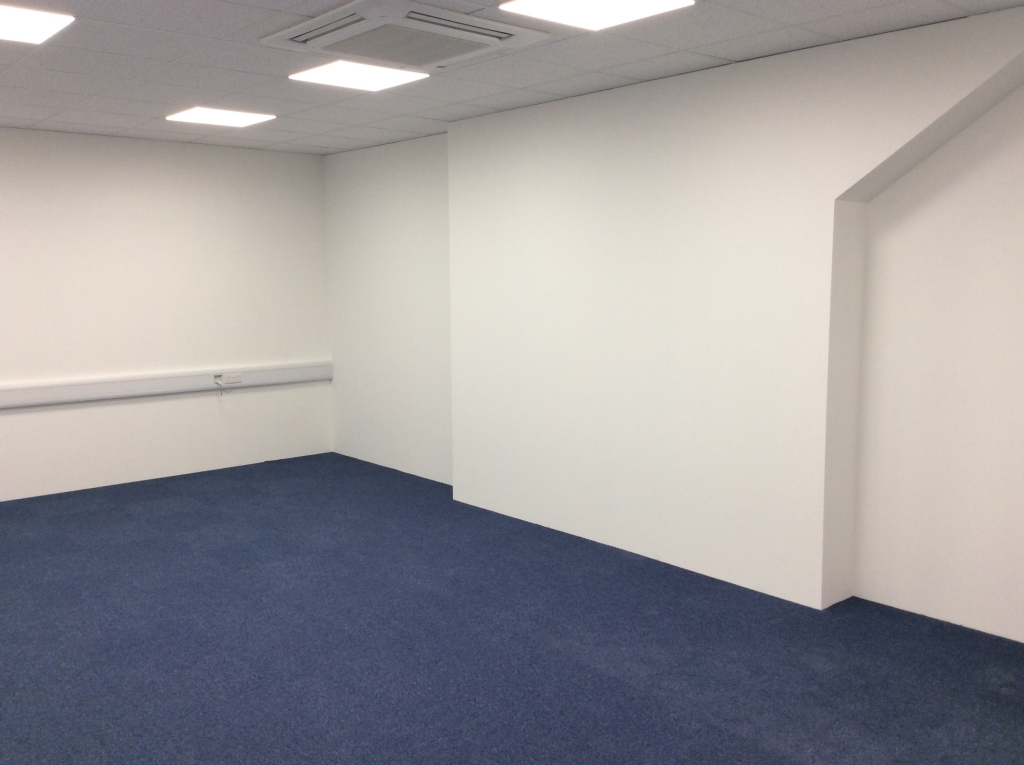 Offices on top of Mezzanine installed by Cubex Contracts Northants