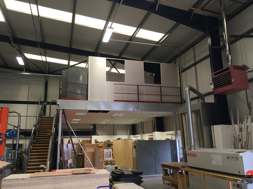 Formwise Bathrooms project - a retrospective mezzanine fit out by Cubex Contracts Northants
