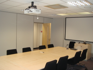 cubex contracts can change the use of your mezzanine from storage to a modern new meeting room