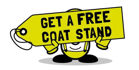 free coat stand when you spend over £800 from Cubex Contracts Northants - offer ends October 31 2017