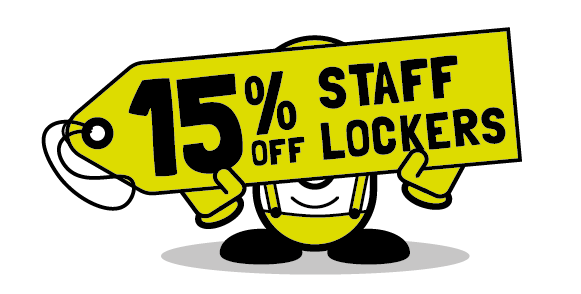 15% off storage lockers when you order from Cubex Contracts before November 30th 2017