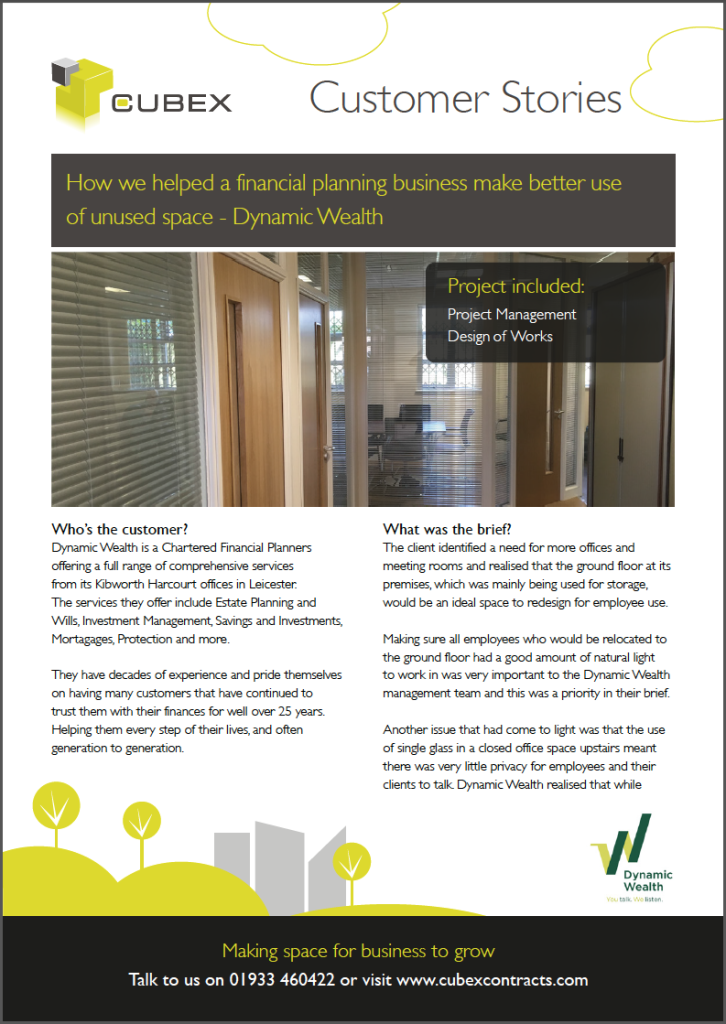 Dynamic Wealth Office Refurbishment Case Study