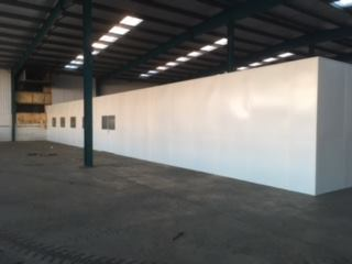 example of steel partitioning shown in an industrial warehouse in kettering