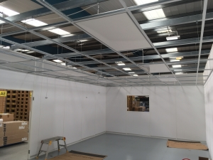 A clean room installation - focus on ceiling progress