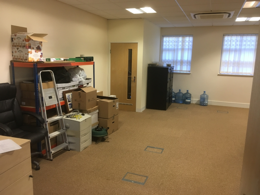 unused ground floor space before installation of partitioning