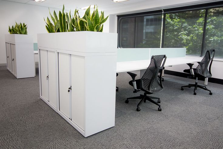 Plant holder with storage - high and useful as partitioning