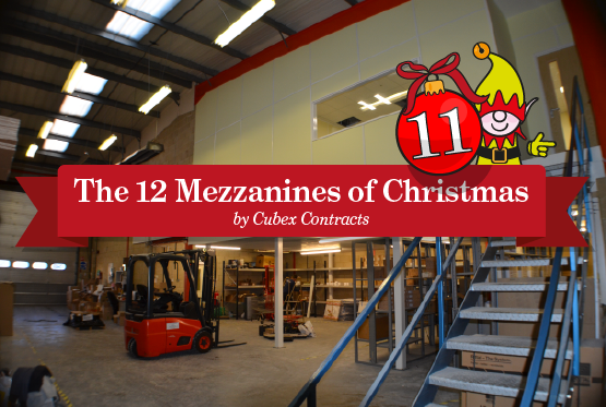 Conversion of the use of an existing mezzanine from storage to office space for Routeco in Milton Keynes
