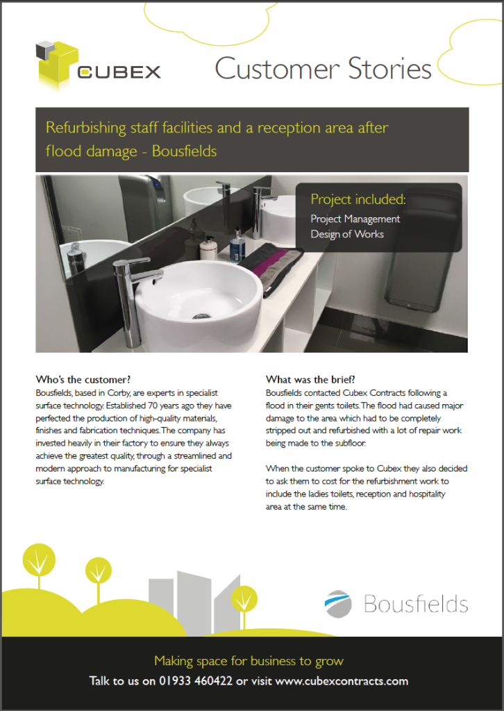 Bousfields Staff Facilities Refurbishment Case Study
