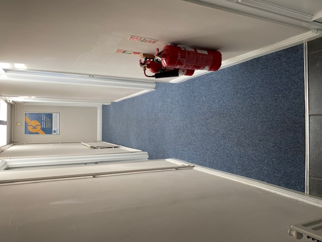 After: New fitted carpet in the entrance area - Rushden office refurbishment
