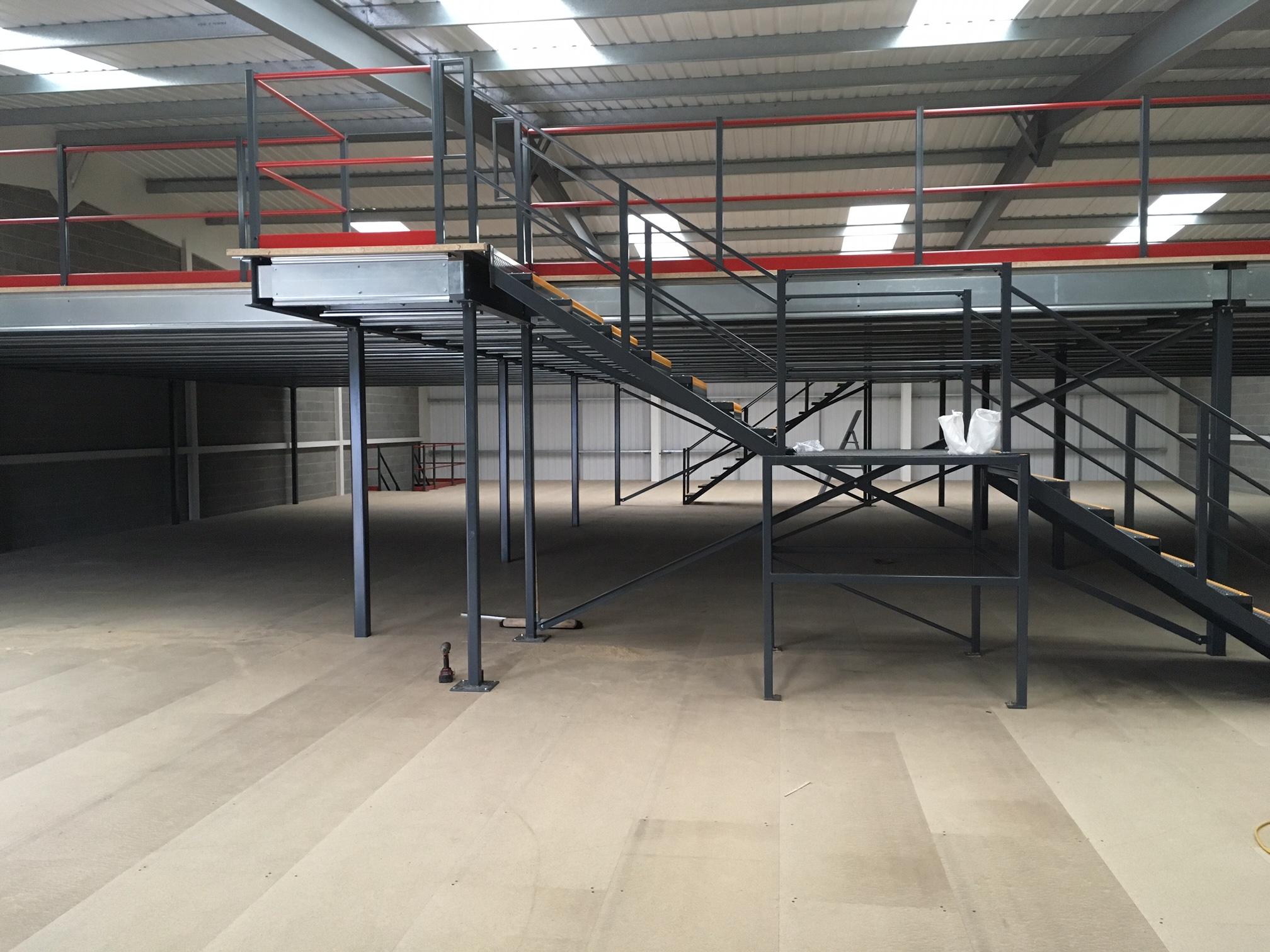 Two tier mezzanine
