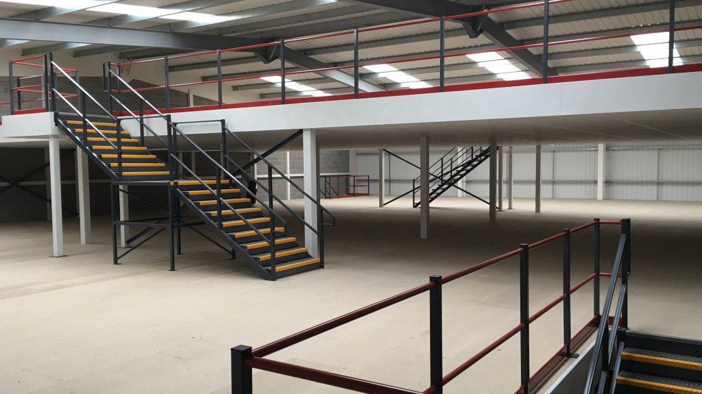 2 Storey Storage Mezzanine floor By Cubex Contracts